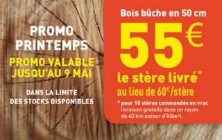 Promotion Bois de chauffage pas cher Amiens Somme Picardie